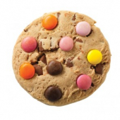 Vanille Cookie mit bunten Schokoladenlinsen